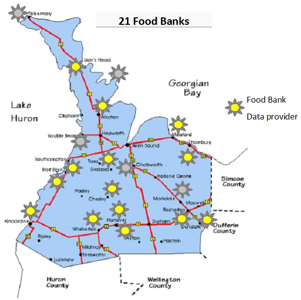 2016 Food Bank map