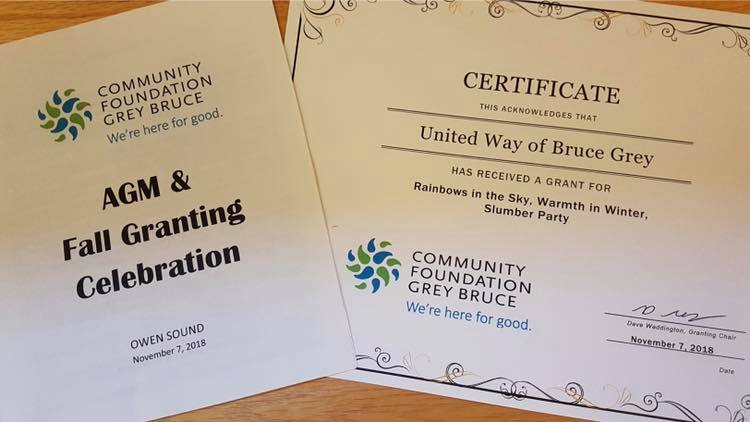 Community Foundation Grey Bruce Donates Grants To United Way Bruce Grey