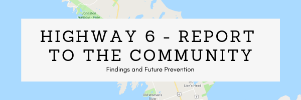 Highway 6 Tobermory Bruce Peninsula Safe Report