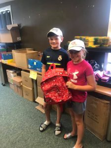 Briley and Jackson - The raffle winners at our Great Canadian Backpack Challenge.