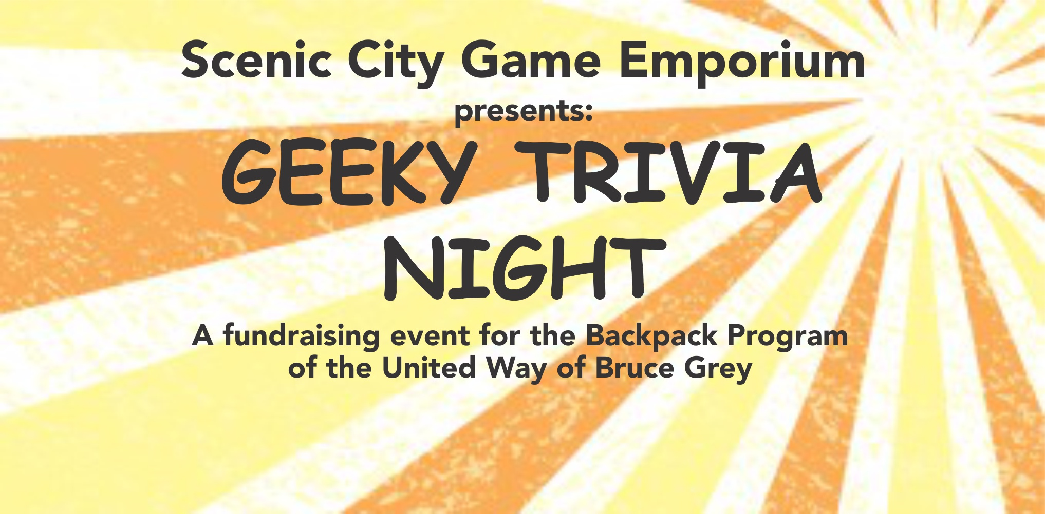 Scenic City Game Emporium presents Geeky Trivia Night