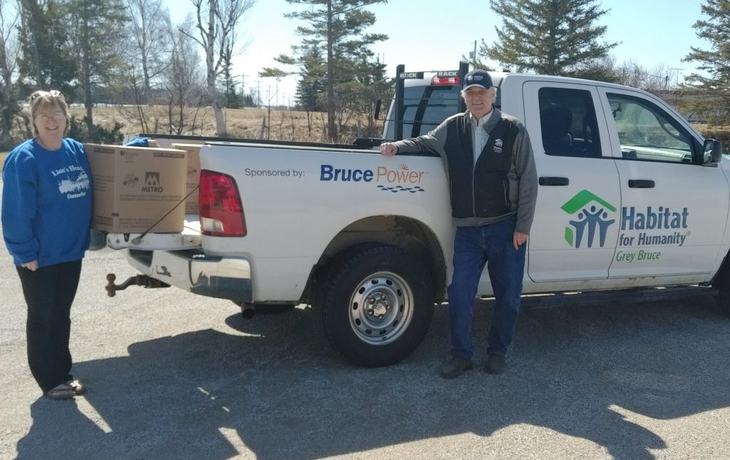 Habitat for Humanity Grey Bruce delivers much needed toilet paper to food banks.